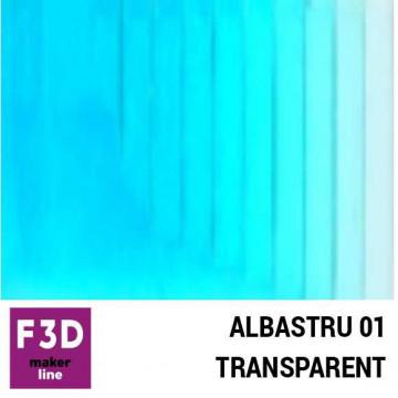 Fiola colorant pentru 500g rasina BASIC - 12,5g - culoare: Albastru 01 transparent
