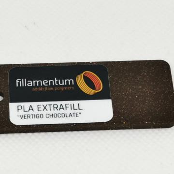 Mostra printata de PLA ExtraFill Vertigo Chocolate