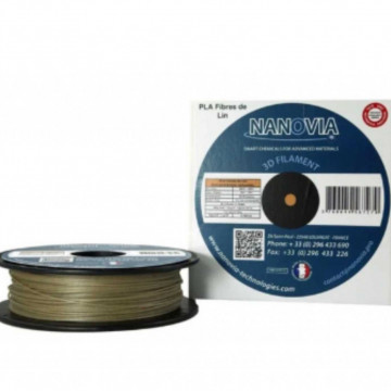 Filament PLA Fibre de in Natif (natural) 500g