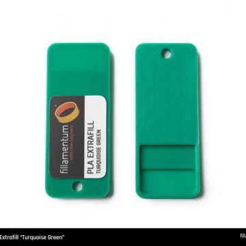 Mostra printata de PLA ExtraFill Turquoise Green