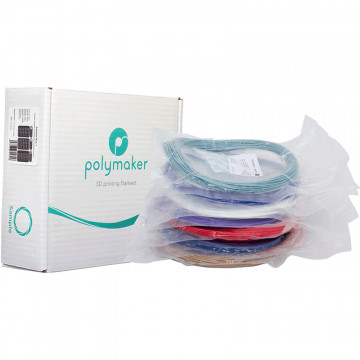 Mostre 1.75mm Polymaker Sample Box 2 (7x50g) Random (culori aleatorii): PolyLite™ ABS, PolyLite™ ASA, PolyLite™ PC, PolyMax™ PC, PolyMide™ CoPA, PolyDissolve™ S1, PolySupport™