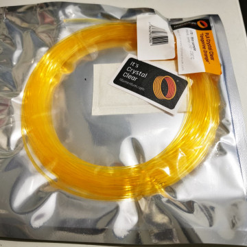 Mostra filament 2.85 mm PLA ExtraFill Crystal Clear Tangerine Orange 15m