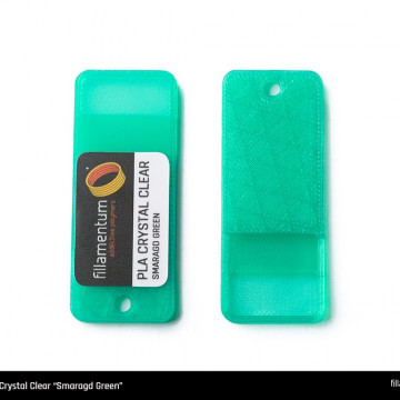 Mostra printata de PLA ExtraFill Crystal Clear Smaragd Green