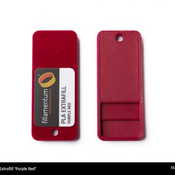 Mostra printata de PLA ExtraFill Purple Red