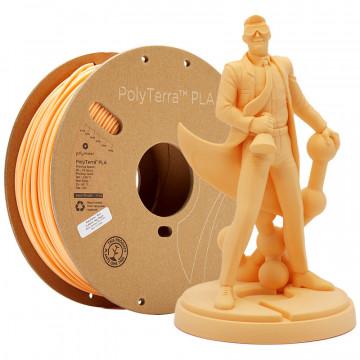 Filament PolyTerra PLA Peach (portocaliu deschis)1kg