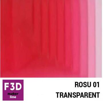 Fiola colorant pentru 500g rasina BASIC - 12,5g - culoare: Rosu 01 transparent