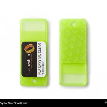 Mostra printata de PLA ExtraFill Crystal Clear Kiwi Green