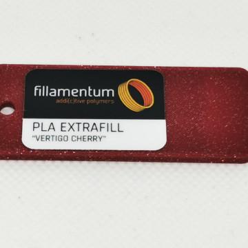 Mostra printata de PLA ExtraFill Vertigo Cherry