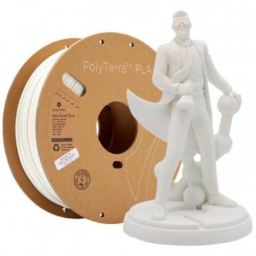 Filament PolyTerra PLA Cotton White (alb)1kg