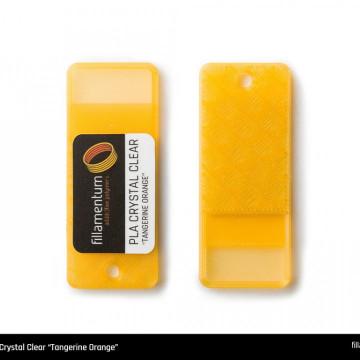 Mostra printata de PLA ExtraFill Crystal Clear Tangerine Orange
