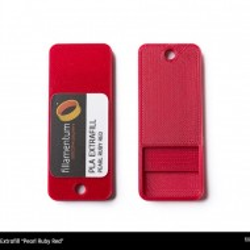 Mostra printata de PLA ExtraFill Pearl Ruby Red