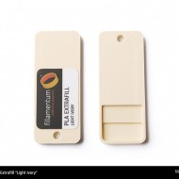 Mostra printata de PLA ExtraFill Light Ivory