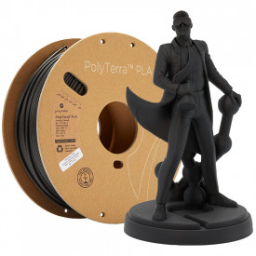 Filament PolyTerra PLA Charcoal Black (negru)1kg