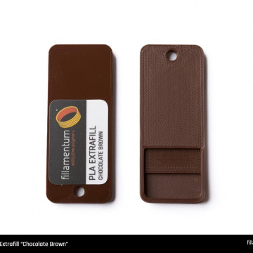Mostra printata de PLA ExtraFill Chocolate Brown