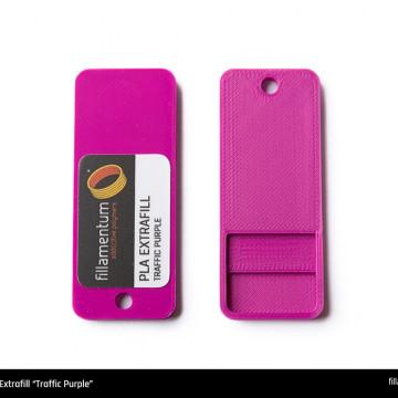 Mostra printata de PLA ExtraFill Traffic Purple