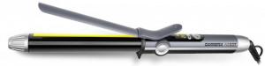Ondulator par Carrera No 537, diametru de 26 mm, varf tactil rece, banda de protectie varfuri din silicon, setari de temperatura 120-210 C (in trepte de 10 C), afisaj LED, gri grafit/titan