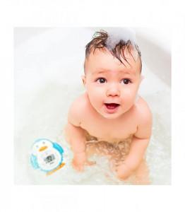 Alecto baby - Termometru digital pentru baie (apa) si camera Pinguin