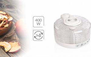Deshidrator alimente MPM MSG-02, 400W, 5 site, 33 cm, inaltime reglabila, transparent