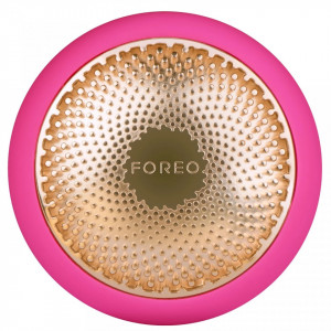 Dispozitiv de tratament facial Foreo UFO Fuchsia cu 4 setari de intensitate si Timer, Fuchsia