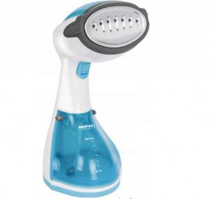 Fier de calcat vertical cu aburi MPM MZP-01, 1200 W, 36 g/min, 250 ml, placa de abur din otel inoxidabil, alb/albastru