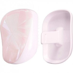 Perie pentru par Tangle Teezer Compact Styler Smooth & Shine Limited Editions Smashed Holo Pink