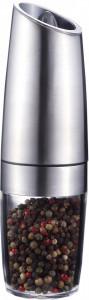 Rasnita Smile SMP-3, condimente, automata, iluminare LED, 20 cm, otel, macinare reglabila, alimentare baterii