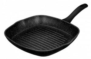 Tigaie grill Smile MPG-28/11/01, 28 cm, aluminiu, antiaderenta, inductie