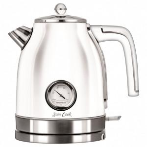Fierbator Sam Cook PSC-100/W, 3000W, 1.7 litri, Strix, tehnologie Quick & Silence, indicator temperatura, rotire 360°, indicator nivel apa, alb