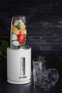 Blender Sam Cook PSC-80/W, 1.2 litri, 1000W, 20000 rotatii/minut, cutit cu 6 lame din titan, alb