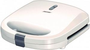 Sandwich maker MPM MOP-27, 750W, placi antiaderente, termostat pentru control automat al temperaturii, alb