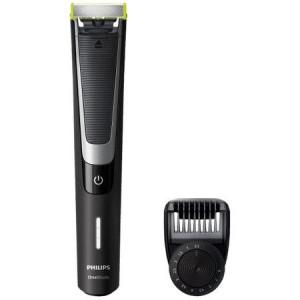 Aparat hibrid de barbierit si tuns barba Philips OneBlade Pro QP6510/20, Pieptene de precizie cu 12 lungimi, Acumulatori, Negru