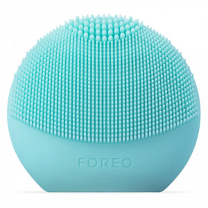 Dispozitiv de curatare faciala Foreo Luna FOFO Play smart Mint, 2 zone, baterii, verde