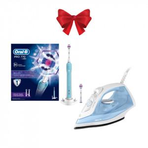 Perfect look for Christmas - Periuta de dinti electrica Oral-B + Fier de calcat Philips
