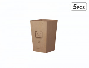 Cos de gunoi reciclabil Allocacoc DH0008/TBBN15, 1.5L, 5 buc