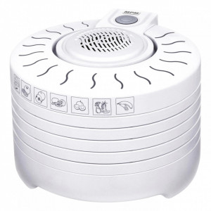 Deshidrator alimente MPM MSG-01, 250W, 5 site, 28 cm, inaltime reglabila, alb