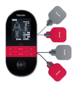 Dispozitiv digital TENS/EMS cu functie de incalzire, 4 electrozi, 2 canale Beurer EM59