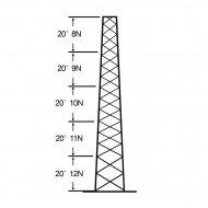 Rohn Ssv30m128 torres autosoportadas