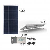Epcom Kit10bdm600poli Kit Solar Para Inter