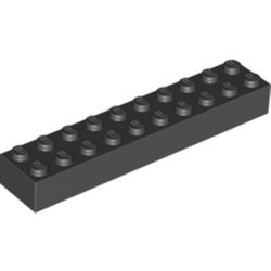 Black Brick 2 x 10 - new