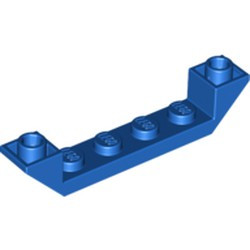 Blue Slope, Inverted 45 6 x 1 Double with 1 x 4 Cutout - new