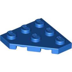 Blue Wedge, Plate 3 x 3 Cut Corner - used