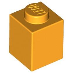 Bright Light Orange Brick 1 x 1 - new