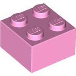 Bright Pink Brick 2 x 2 - used