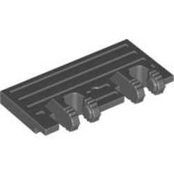 Dark Bluish Gray Hinge Train Gate 2 x 4 Locking Dual 2 Fingers without Rear Reinforcements - used