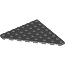 Dark Bluish Gray Wedge, Plate 8 x 8 Cut Corner - used