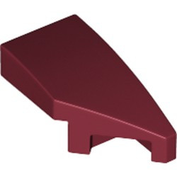 Dark Red Wedge 2 x 1 with Stud Notch Right - new
