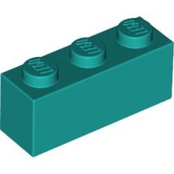 Dark Turquoise Brick 1 x 3 - new