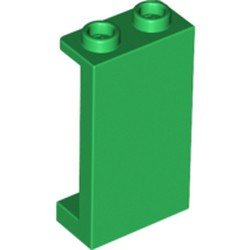 Green Panel 1 x 2 x 3 with Side Supports - Hollow Studs - new