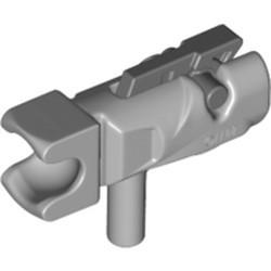 Light Bluish Gray Minifigure, Weapon Gun, Mini Blaster / Shooter / Fire Nozzle with Tow Ball Socket and Dark Bluish Gray Trigger (23922 / 15392) - new