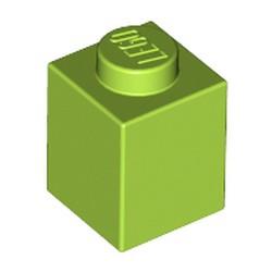 Lime Brick 1 x 1 - used